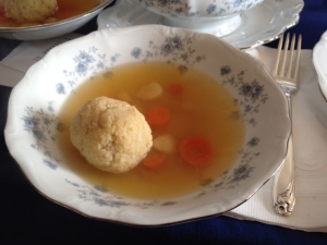 Matzo Ball soup.. Yum!