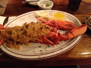 My first baked stuffed lobster.. even more amazing than steamed!