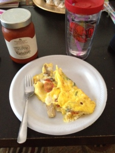Some of that truffle ketchup went on my eggs too... sooo good!
