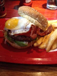 Royal Red Robin burger.. everything is better with an egg on it