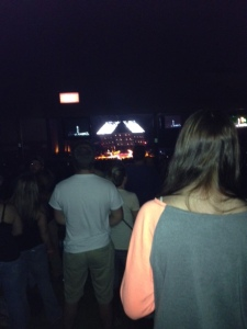 Our view of the stage