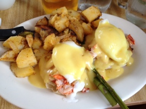 Saturday morning's breakfast: Lobster Benedict from Ken's Corner aka. amazing