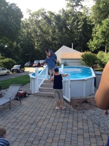 I'm going to end it with my favorite pic: Melissa's Dad throwing her into the pool fully clothed!