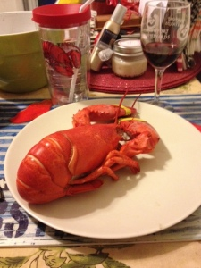 It was only appropriate to also drink out of my lobster cup