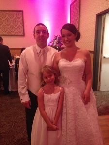 Brian and Natasha with their beautiful flower girl Alyssa (photo credit: Christin Dimock Cofiell)