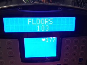 I also climbed 103 floors last night, which is 50 more than I have ever done before