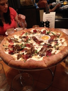 My truffle pizza with an egg added (duh)
