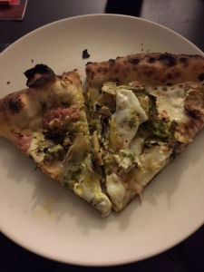 My amazing man surprised me with a sunny side up pizza with Brussels from Krust :)