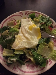 Naturally I topped this salad with an egg, loving that protein!