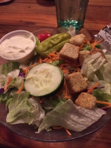 That garlic dressing was amazing. I dipped my fork in before each bite as not to overpower the veggies with the garlic.