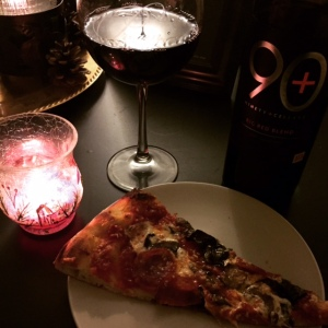 This pizza from Harry's and the 90+ Cellars wine was an amazing start to the weekend but was not guilt-free by any means