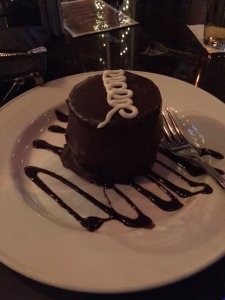 """The B Cup"".. basically a chocolate cake filled with chocolate mousse.. it was superb"