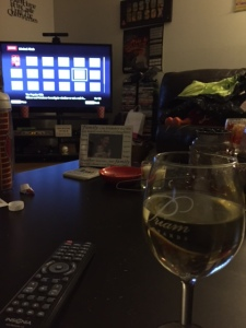 Last night's view of Priam wine and Netflix... perfection