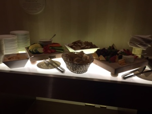 Fancy crudité display.. with brie.. I obviously destroyed that cheese platter