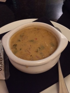The award winning Dragon chowder.. which had skate, lobster, and alligator in it.. AMAZING