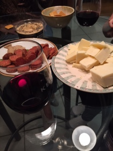 The evening was spent at Dan's parents house with wine and cheese.. aka. perfection