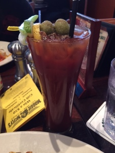 And of course a bloody mary which had cucumber vodka and Guinness in it! Very spicy but very good!