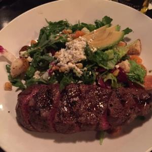 Dan's steak salad... That is an entire steak!
