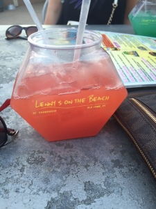 Naturally the only picture I took that day was of the fish bowl we drank ;)