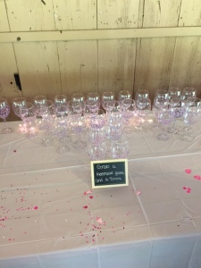 They decorated these wine glasses themselves.. they came out so perfect