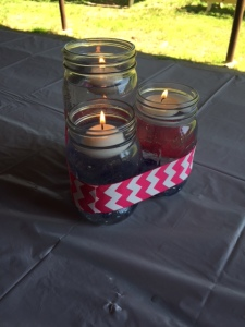 I am obsessed with the mason jars! And floating candles :)