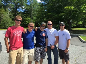 The fire dept guys that attended... Christian, Tyler, Dan C, Justin, and Dan