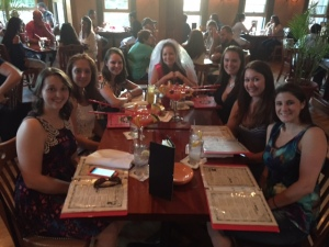 Some of the ladies at The Red Parrot, missing Kate and Sam