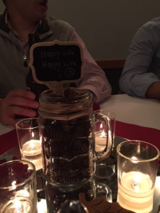 Each centerpiece had a cute little saying on it!