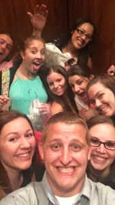 This is probably my favorite selfie of all time, all of the ladies plus Tyler and Dan