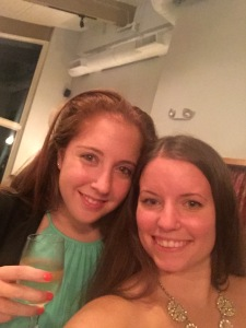 With the beautiful Jenna (and wine, of course) :)