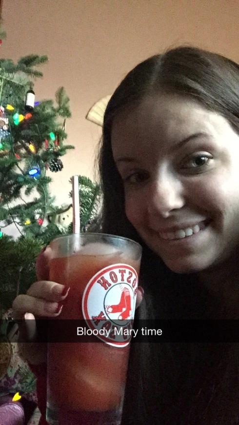 christmas 2014 bloody selfie