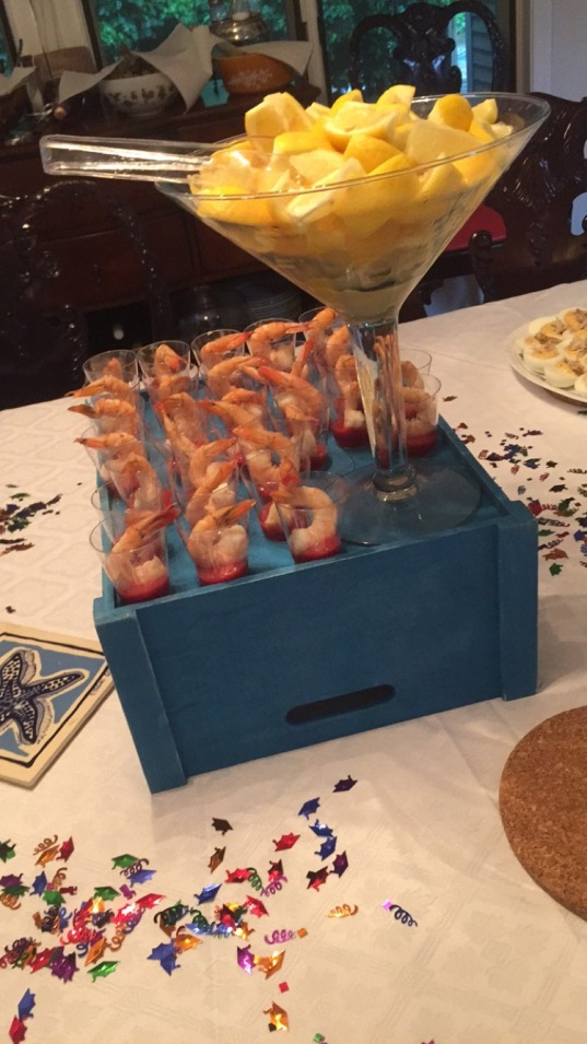 Lobs party shrimp cocktail