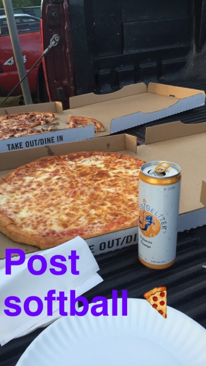 post softball pizza