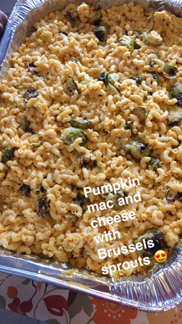 pumpkin-and-brussels-mac-and-cheese
