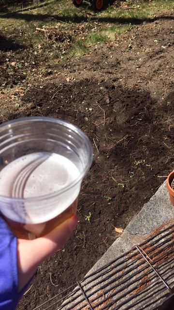 beer and gardening