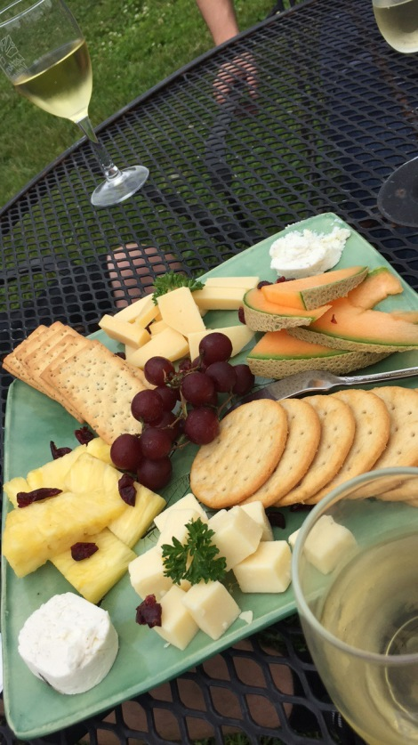 Lost Acres cheese and wine
